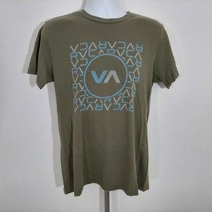 RVCA Men's T-shirt Size Medium Olive Green RQ25